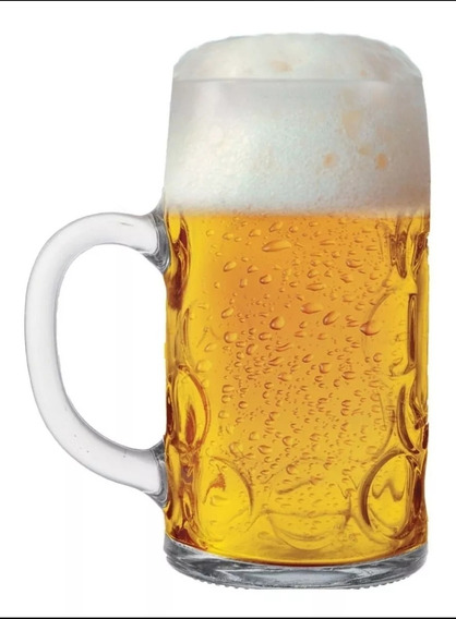 Caneca Chopp Vidro Cerveja Alemã Mass 1 Lt
