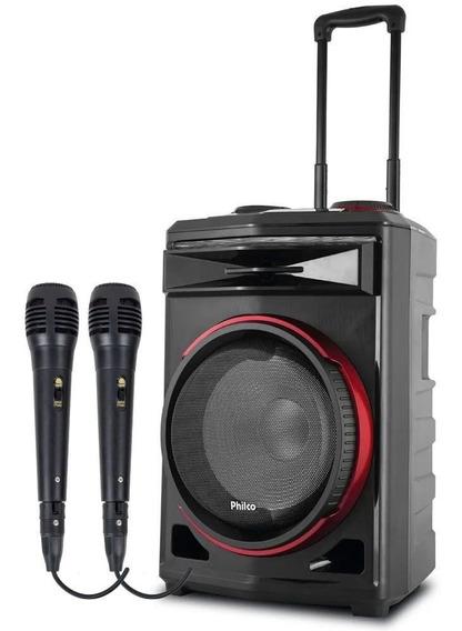 Caixa De Som Potente Subwoofer Philco Pcx6500 2 Microfones