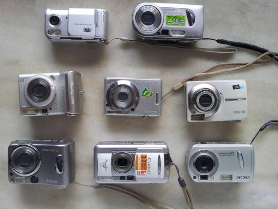 Lote 8 Câmeras Sony Hp Canon E Kodak Sem Testes