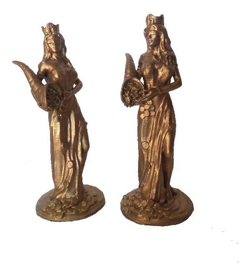 Estatua Diosa De La Fortuna Abundia Tyche 15cm Impresion 3d