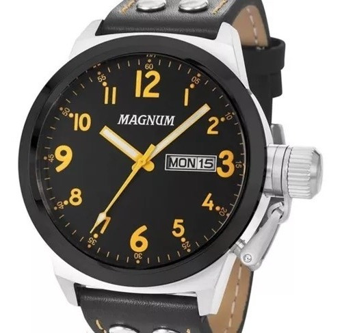 Relógio Magnum Masculino Military Ma32774j Prateado + Nota