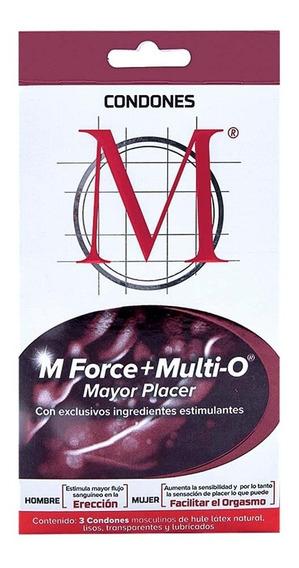 Preservativos Condones M Force + Multi O 3 Pzas Genomma Lab