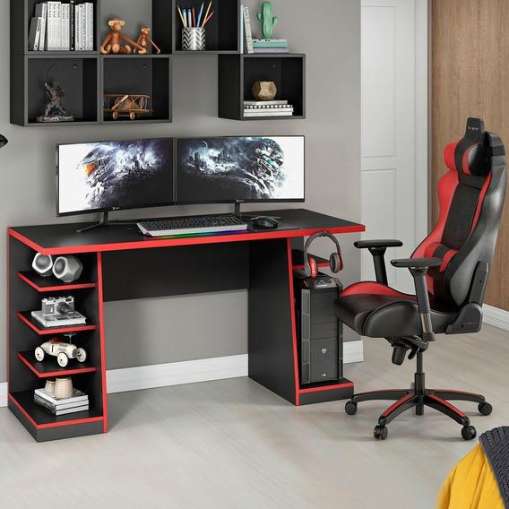 Mesa Para Computador / Gamer Xp Black Vermelho Nt2020