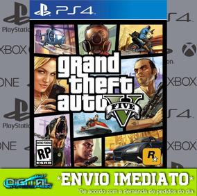 Grand Theft Auto Gta 5 V Ps4 Psn Jogo Digital Envio Rapido