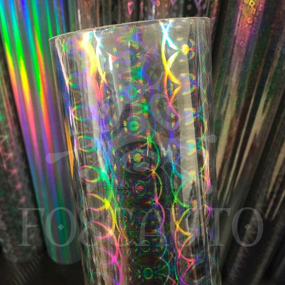 Adesivo Holográfico Arte E Artesanato - Modelo Elo Prata 3d