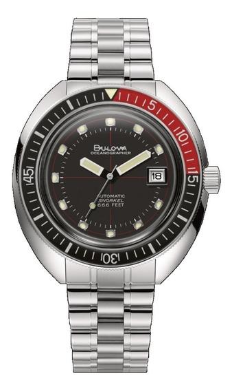 Relógio Bulova Oceanografo Masculino 98b320 Aço Automático