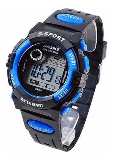 Relógio Masculino Synoke Azul Digital Cronômetro Alarme