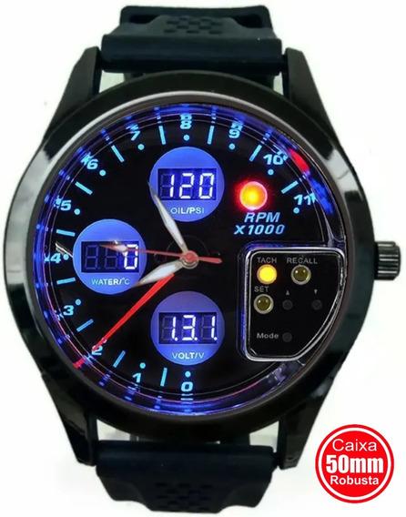 Relógio Gauge Conta Giro Pressão Turbo Carro Aspirado Qualit