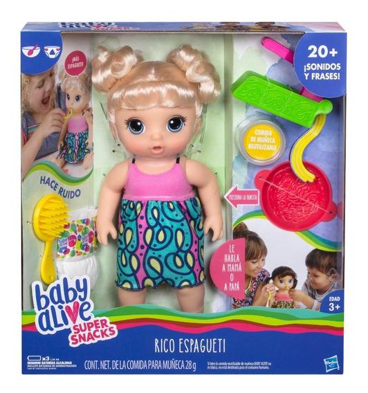 Bebe Muñeca Hasbro C3126 Baby Alive Come Habla Accesorios