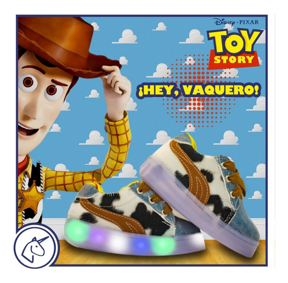 Tenis Toy Story Woody Con Luces Led