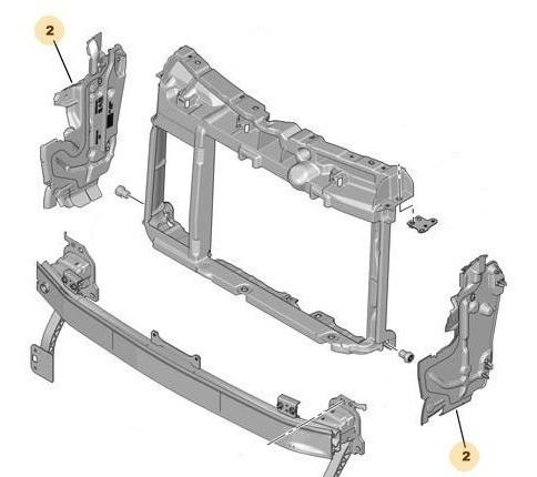 Deflector Der Panel Frontal Radiador Peugeot 208 1.6 16v