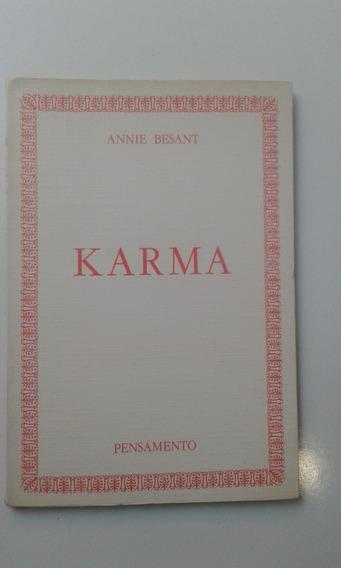 Livro - Karma - Annie Besant - Com Sublinhados De Caneta