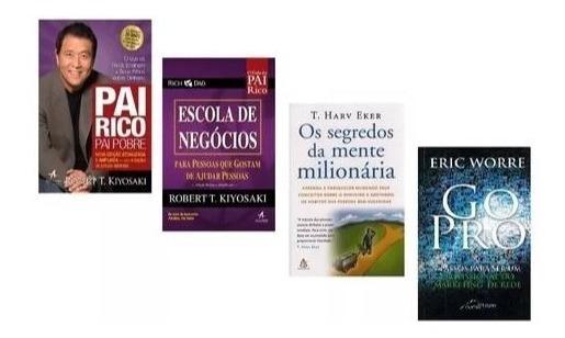 Livros Pai Rico + Escola Negócios + Segredos Mente + Go Pro