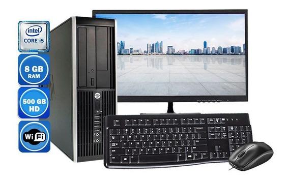 Computador Completo Hp 8200 Sff I5-2400 8gb Hd500gb + Wi-fi