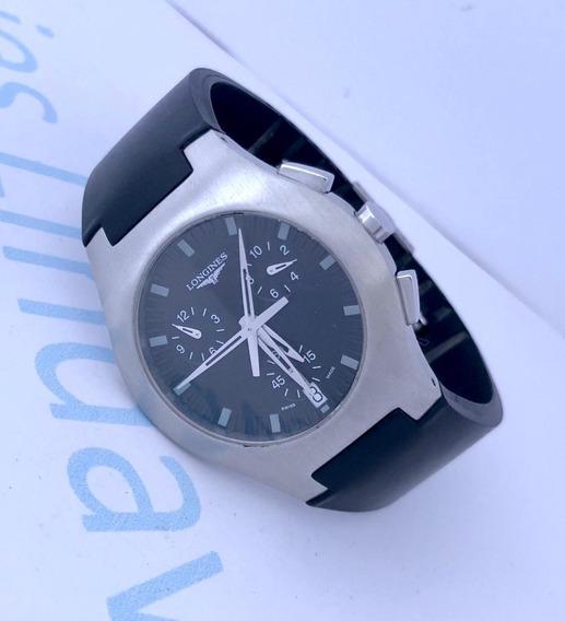 Reloj Longines Oposition Cronómetro Caucho Negro