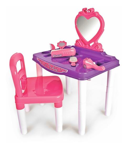 Penteadeira Fashion Com Cadeira E Acessórios Infantil