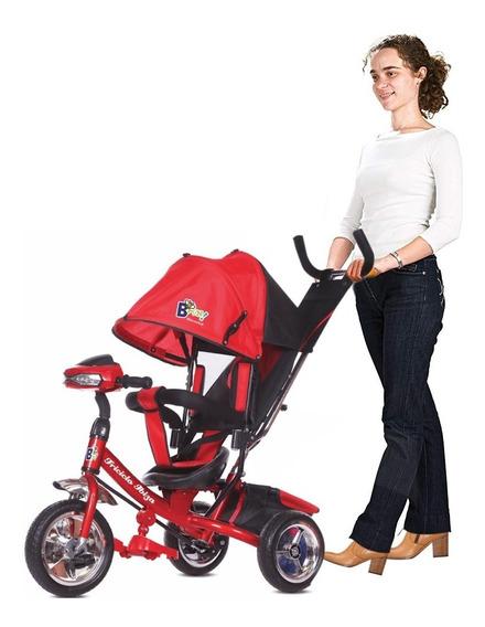 Triciclo Infantil Asiento Reforzado Con Techo Rebatible