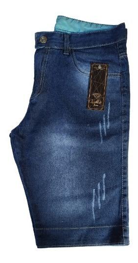 Kit 5 Bermudas Jeans Masculina Slim C/ Lycra
