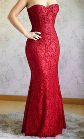 78dd1e870a Vestido Vermelho Longo Madrinha Tomara Caia - Vestidos Longos ...