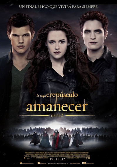 Poster Original Cine Amanecer Parte 2 ( Saga Crepúsculo)