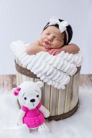 Baldinho De Madeira Pátina Prop Newborn E Bebê