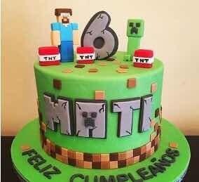 Tortas Decoradas Infantiles ! Minecraft , Fortnite , Sonic