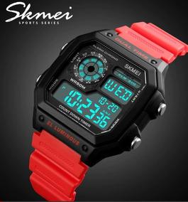 Relógio Skmei Dual Time Digital Led Display Prova D