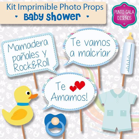 Photo Props Imprimible Baby Shower Nene. Cartelitos Fotos