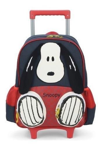 Mochila Rodinha Mochilete Infantil Escolar Snoopy