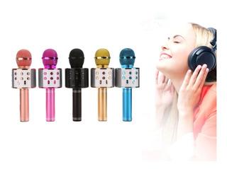 Microfono Inalambrico Karaoke Con Bocina Bluetooth 6 Colores