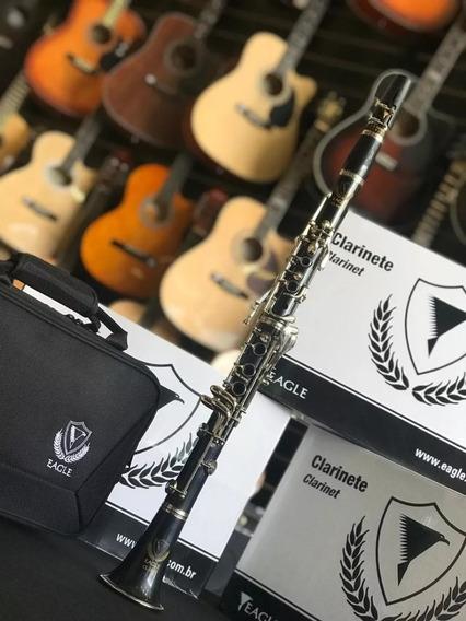 Clarinete Eagle Profissional Sib 17 Chaves Cl04n Com Estojo