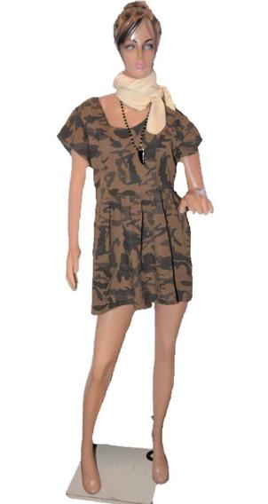 47 Street Vestido Camuflado Tonos Marrones Promo