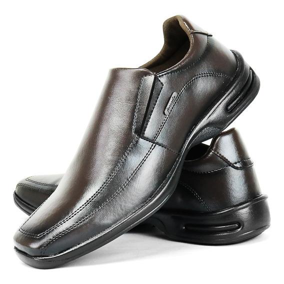 Sapato Social Masculino Ortopedico Anti Stress Palmilha Maci