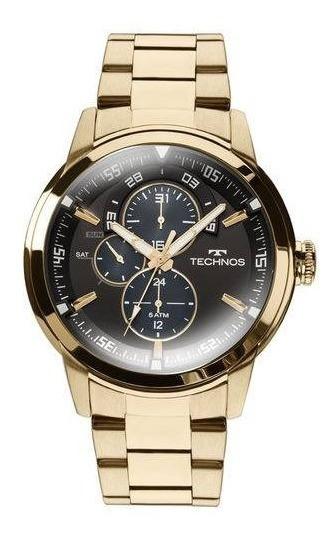 Relógio Technos Masculino Grandtech 6p57aa 4p Dourado Multi