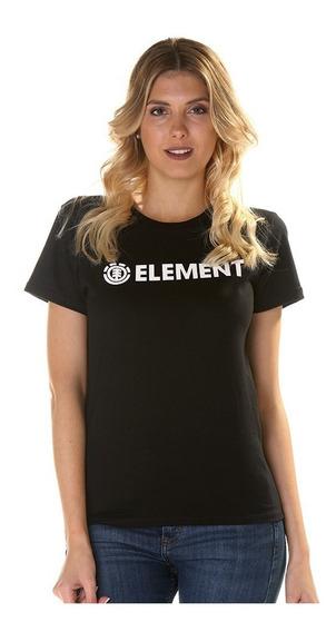 Remera M/c Element Logo Tee Rosa Negro Jeremele