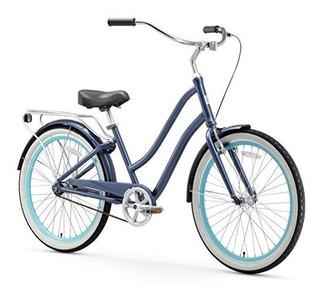 Bicicleta Sixthreezero Para Mujer 1 Velocidad Híbrida