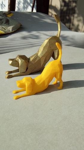 Imagem 1 de 10 de Impressão 3d - Cãozinho De Ouro - Coleção Petmaluco