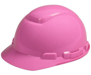 Casco Dama Color Rosa Femenino Ingeniera Seguridad Industria