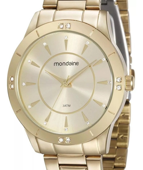 Relógio Mondaine Feminino 99112lpmvde1 Dourado + Nfe