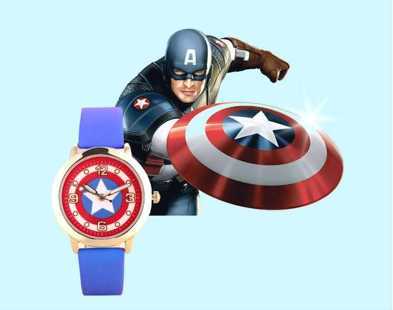 Relógio De Pulso Capitão América Menino Criança Infantil 144