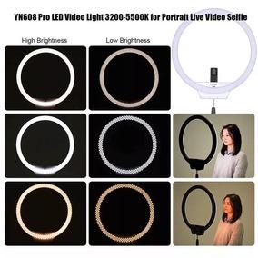 Led Circular Ring Light Youngnuo 608 + Fonte+ Tripé 2m Yn608