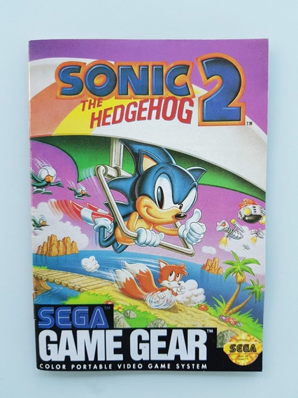 Manual Sonic 2 Game Gear - Frete Grátis