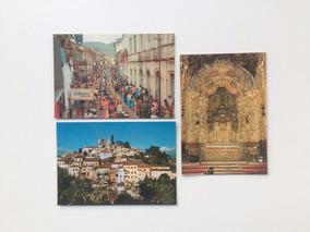 Três Cartões Não Usados Ouro Preto M G Ano De 1982