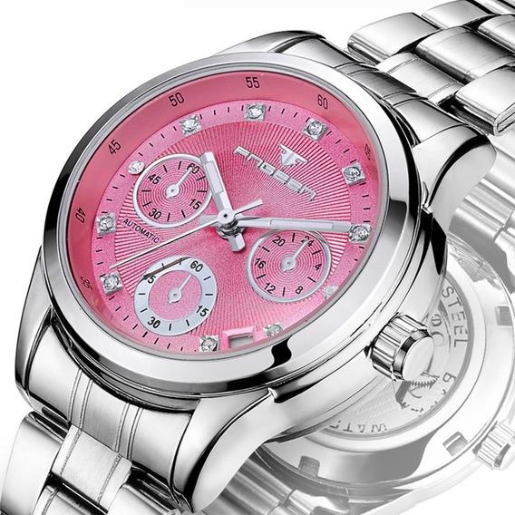 Mulheres Relógios De Pulso Pulseira De Aço Inoxidável Ama