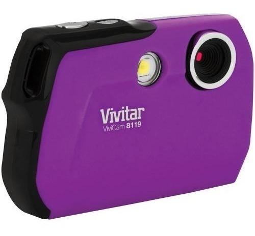 Cámara Digital Vivitar V8119 Color Violeta Nueva Flores