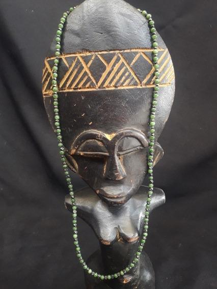 Collar De Jade Africano Ashantis De Plata Antiguo
