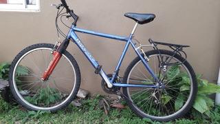 Bicicleta Mountain Bike Rodado 26 Porta Equipaque Aluminio