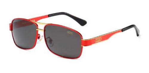 Óculos De Sol Audi 553 Red - Lentes Polarizadas + Estojo