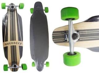 Long Board Rolamento Skate Shape Verde Abec 9 Rodas