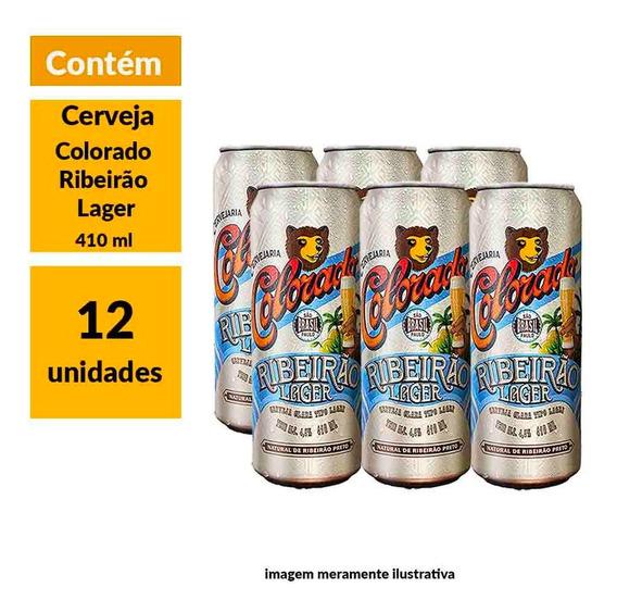 Cerveja Colorado Ribeirão Lager 410ml Pack (12 Unidades)